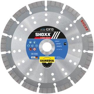 Samedia SHOXX GX13 SILENCIO Diamant-Trennscheibe verschiedene Durchmesser