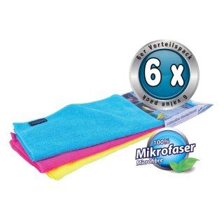 Petex Mikrofaser Reinigungstuch, 6er Pack, ca. 40 x 30 cm