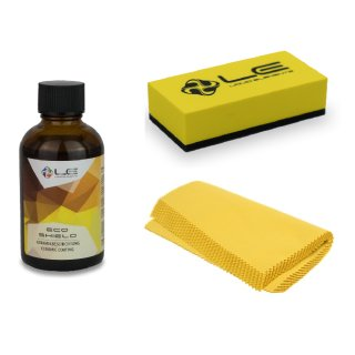 Liquid Elements ECO Shield Keramikbeschichtung 50 ml + Applikator Block gelb + 10er Set Scatter