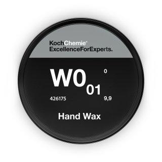 Koch Chemie Hand Wax W0.01 Set Wachsversiegelung 175 ml Schwamm Microfasertuch