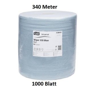 Putzrolle Putzpapier Putztuch Abrisstücher 3-LAGIG 1000 BLATT Saugstark 340m