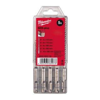 Hammerbohrer M2 SDS-Plus Set 5-teilig5/6 x 110 mm, 6/8/10 x 160 mm