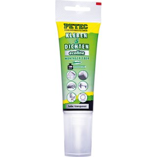 Petec Kleben & Dichten Ecoline 80 ml Tube Transparent