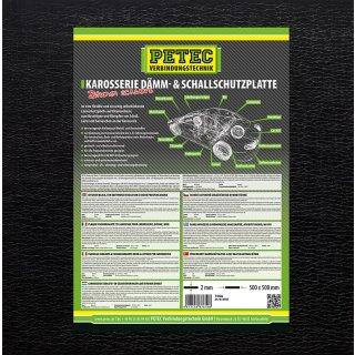 Petec Karosserie Dämm & Schallschutzplatte schwarz 500 x 500 mm