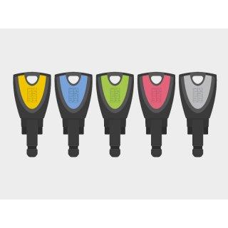 blueCompact Nutzerschlüssel in 5 Farben