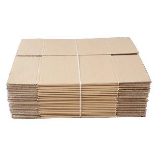 Faltkarton FEFCO 0201 230 x 230 x 300 mm BE-Welle zweiwellig braun