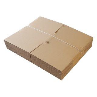 Faltkarton FEFCO 0201 370 x 370 x 210 mm B-Welle einwellig braun