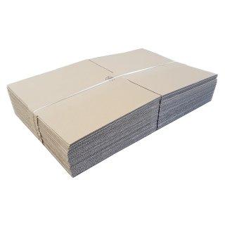 Faltkarton FEFCO 0201 370 x 370 x 100 mm B-Welle einwellig braun