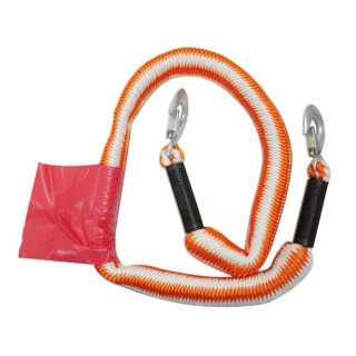Petex Abschleppseil 2000 Stretch orange  mit 2 Karabinerhaken