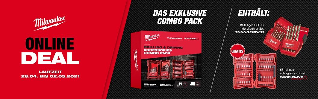 Milwaukee Combo Pack für 57,72€